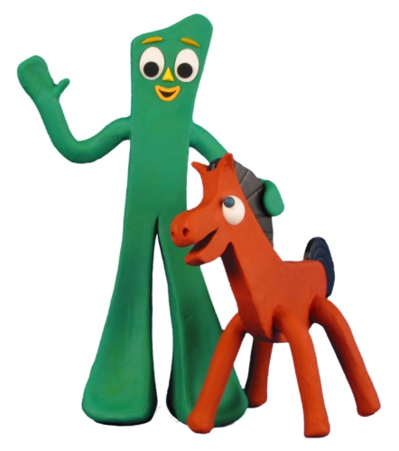 Poky, With His Friend, Gumby