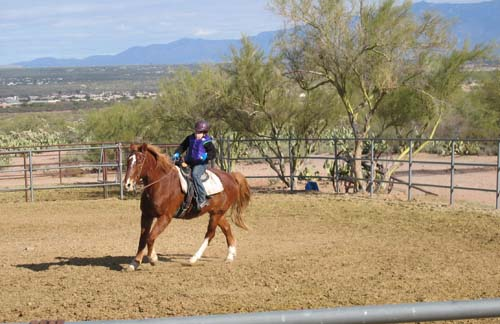 My daughter, Katherine, riding her friend Socks in Tucson