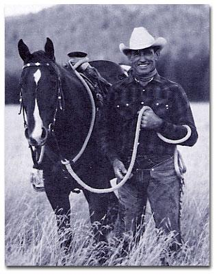 Ray Hunt and his horse Hondo