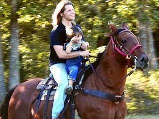 Rupert Isaacson and his son Rowan