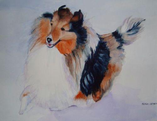 Watercolor by Brenda Cretney: DJ