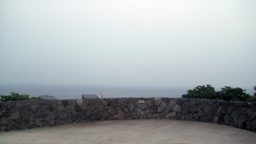Still dark and hazy when I arrived at the Heiau