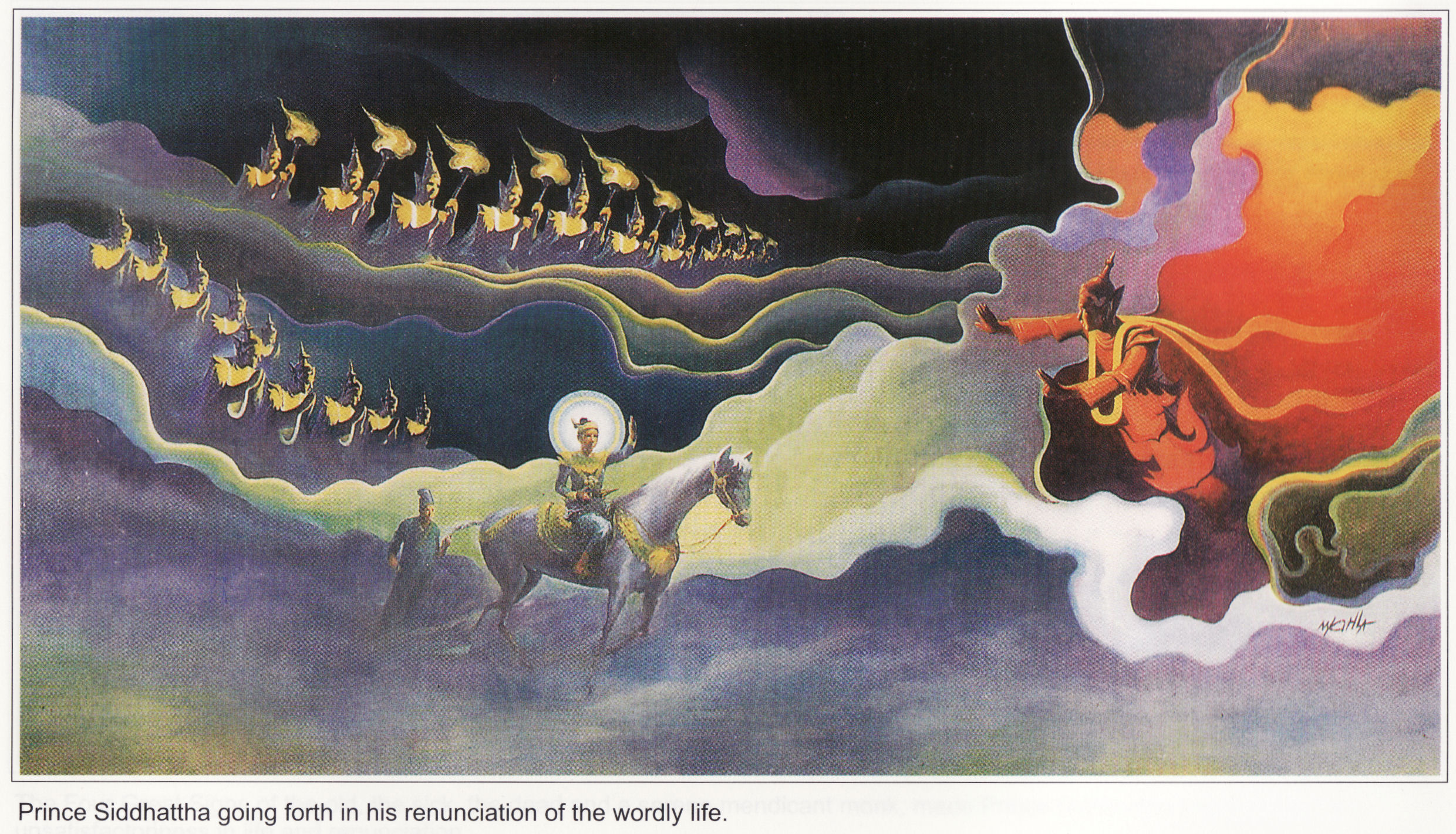story of mara and buddha Story source: the life of buddha by andre ferdinand herold (1922) mara's defeat the light emanating from the hero's body reached even to those realms where mara, the evil one, reigned supreme.